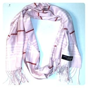 Accessories - 100% Cashmere Made in Scotland*Pink Plaid Scarf